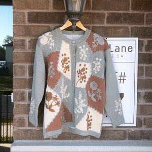 Vintage Japanese wool hand made cardigan sweater